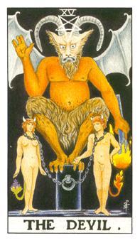 通用伟特塔罗牌 - Universal Waite Tarot - 恶魔 - The Devil