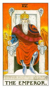 通用伟特塔罗牌 - Universal Waite Tarot - 皇帝 - The Emperor