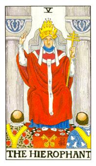 通用伟特塔罗牌 - Universal Waite Tarot - 圣职者 - The Hierophant