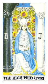 通用伟特塔罗牌 - Universal Waite Tarot - 女祭司 - The High Priestess