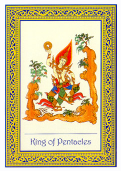 泰国皇家塔罗牌 - royal thai tarot - 钱币国王 - king of pentacles