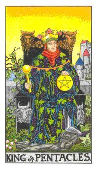通用伟特塔罗牌 - Universal Waite Tarot - 钱币国王 - King Of Pentacles