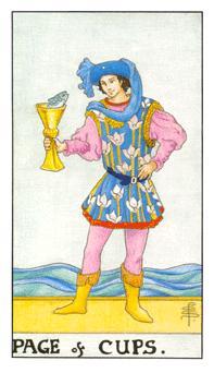 通用伟特塔罗牌 - Universal Waite Tarot - 圣杯侍从 - Page Of Cups