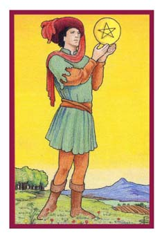 伊壁鸠鲁塔罗牌 - epicurean tarot - 钱币侍从 - page of pentacles