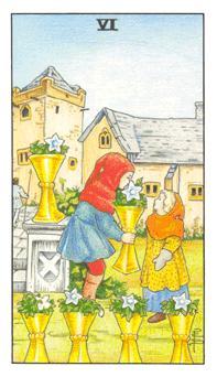 通用伟特塔罗牌 - Universal Waite Tarot - 圣杯六 - Six Of Cups