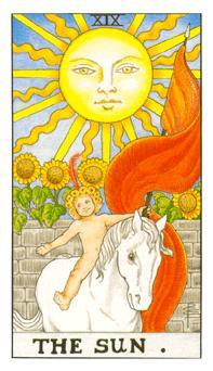 通用伟特塔罗牌 - Universal Waite Tarot - 太阳 - The Sun