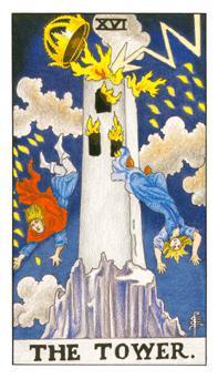 通用伟特塔罗牌 - Universal Waite Tarot - 高塔 - The Tower